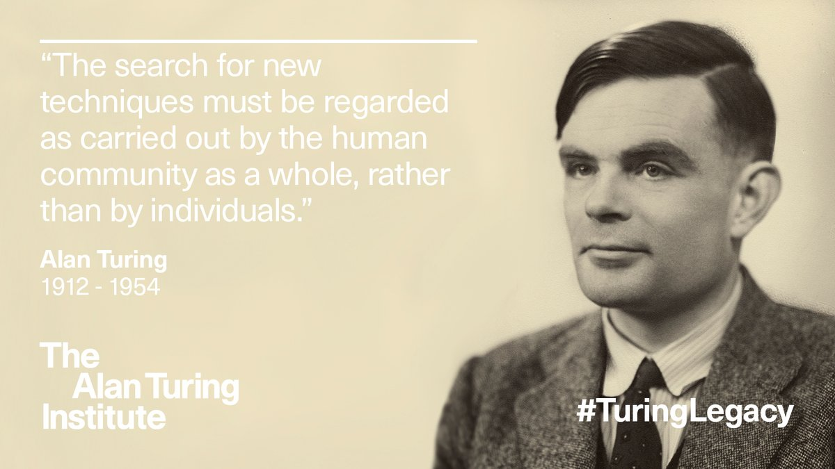 Happy birthday to #AlanTuring born in 1912 #onthisday. The Institute is named in his honour but what does Alan Turing and his work mean to us, our community and our research? Read about Turing's life and legacy and watch our video: https://t.co/EzukEbSjG6 #TuringLegacy #TuringEDI https://t.co/Dn08gj07Fh