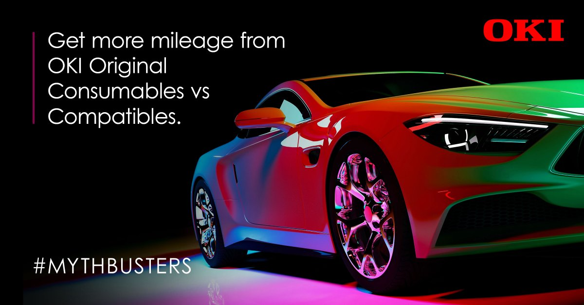 Did you know you get double the mileage from #OKIOriginalConsumables than from generic third-party compatibles? Our #mythbusters explains: https://t.co/Efr3g0bByQ https://t.co/JYPRa6SEAX