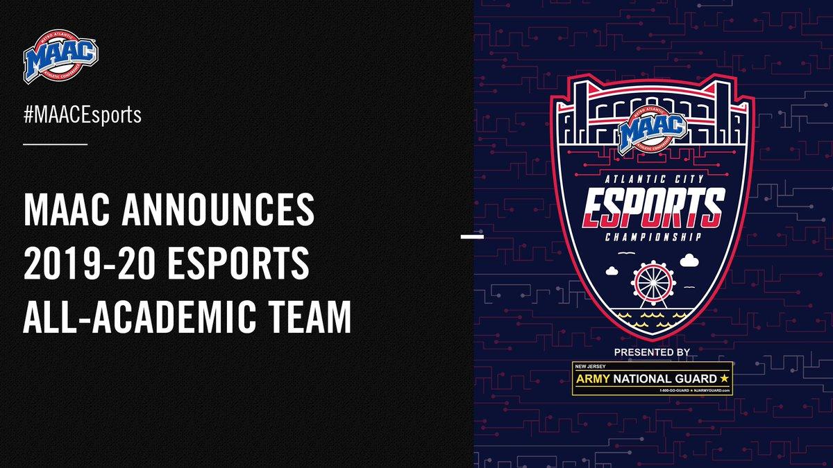 MAAC Announces 2019-20 Esports All-Academic Team. #MAACEsports | #MAACSports 📰: bit.ly/2Nkq9c5
