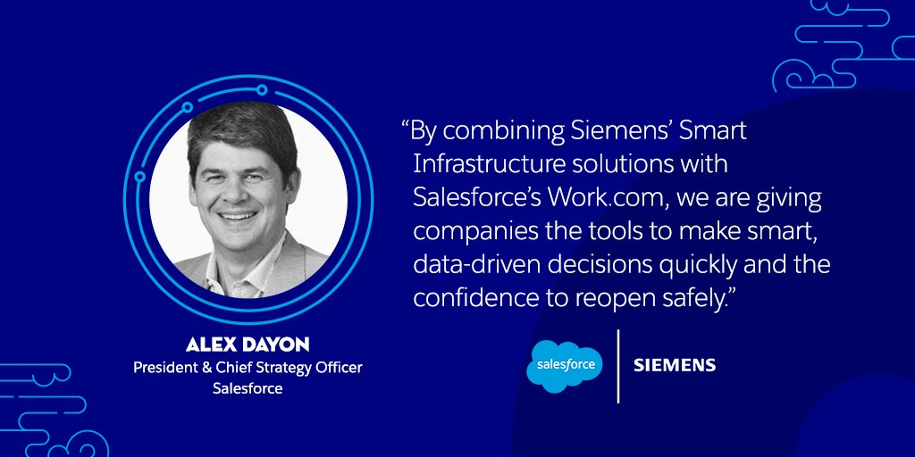 We're excited to announce a strategic partnership with @Siemens to deliver the future experience for safe workplaces. Learn more about how together we're developing a new workplace technology suite: https://t.co/gmj9X6uTor #TDX20 https://t.co/M0g5048m81