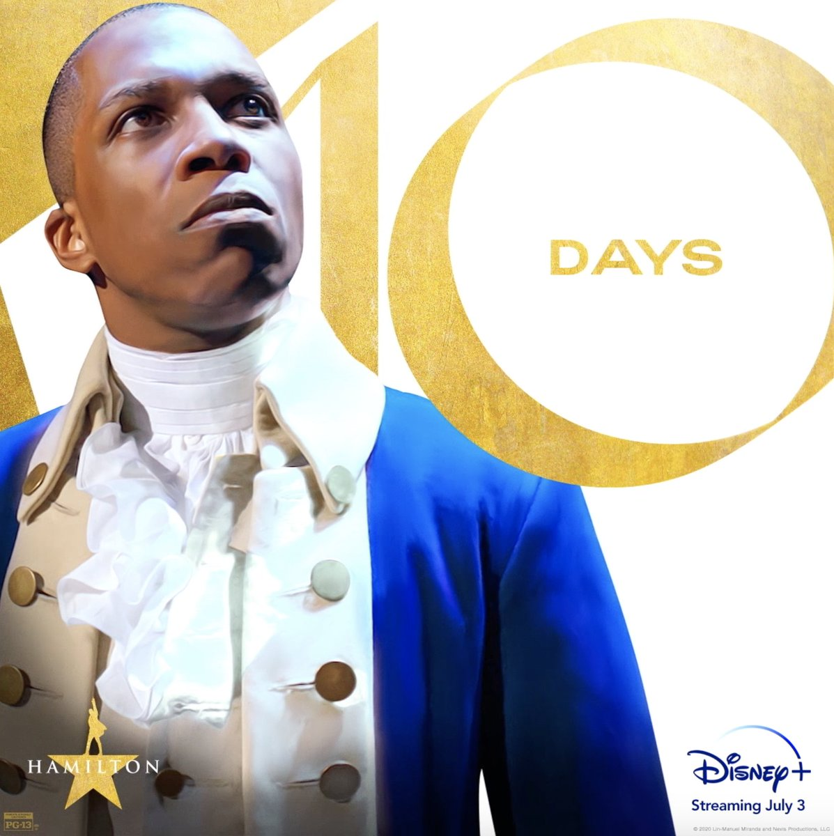 Wait for it: Only 10 days until Hamilton is streaming exclusively on #DisneyPlus. #Hamilfilm