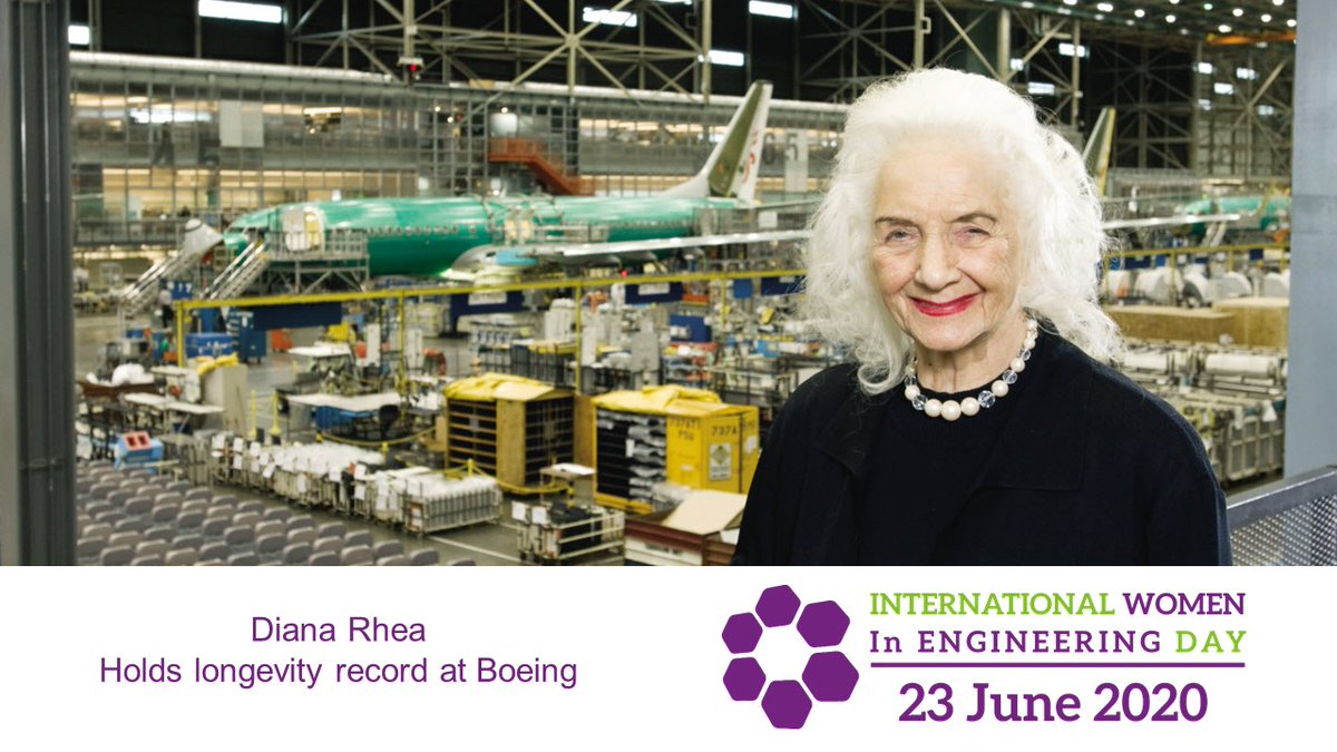 Diana Rhea worked at Boeing for a record 71 years, after joining at the start of WW2. #INWED20  Read how Diana helped #ShapeTheWorld and meet some of our current engineers: https://t.co/HoZgHP7ynn https://t.co/SSvDlPqweI