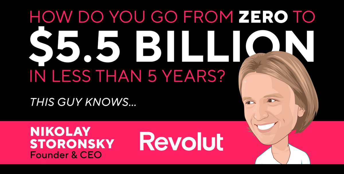 PARTNER EVENT - @money2020  How do you go from ZERO to being valued at $5.5B in less than 5 years? Get a behind-the-scenes look at how Nikolay Storonsky has built @RevolutApp to become one of the world's most valuable FinTechs @ ⚡ speed, only at #M2020EU. https://t.co/gc5nnTXnde https://t.co/JrMSMeblCJ