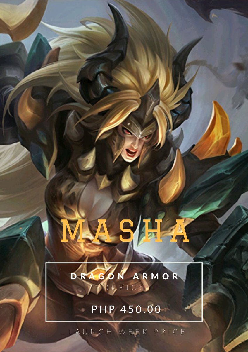 Dragontamer Hashtag On Twitter So what can you say about masha's new dragon armor skin? dragontamer hashtag on twitter