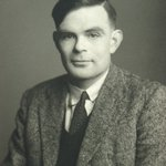 """Born #OnThisDay in 1912 was Alan Turing FRS. Celebrated as """"Father of computer science, mathematician, logician, wartime codebreaker, victim of prejudice"""", he made foundational contributions to artificial intelligence & theoretical biology during his short career."""