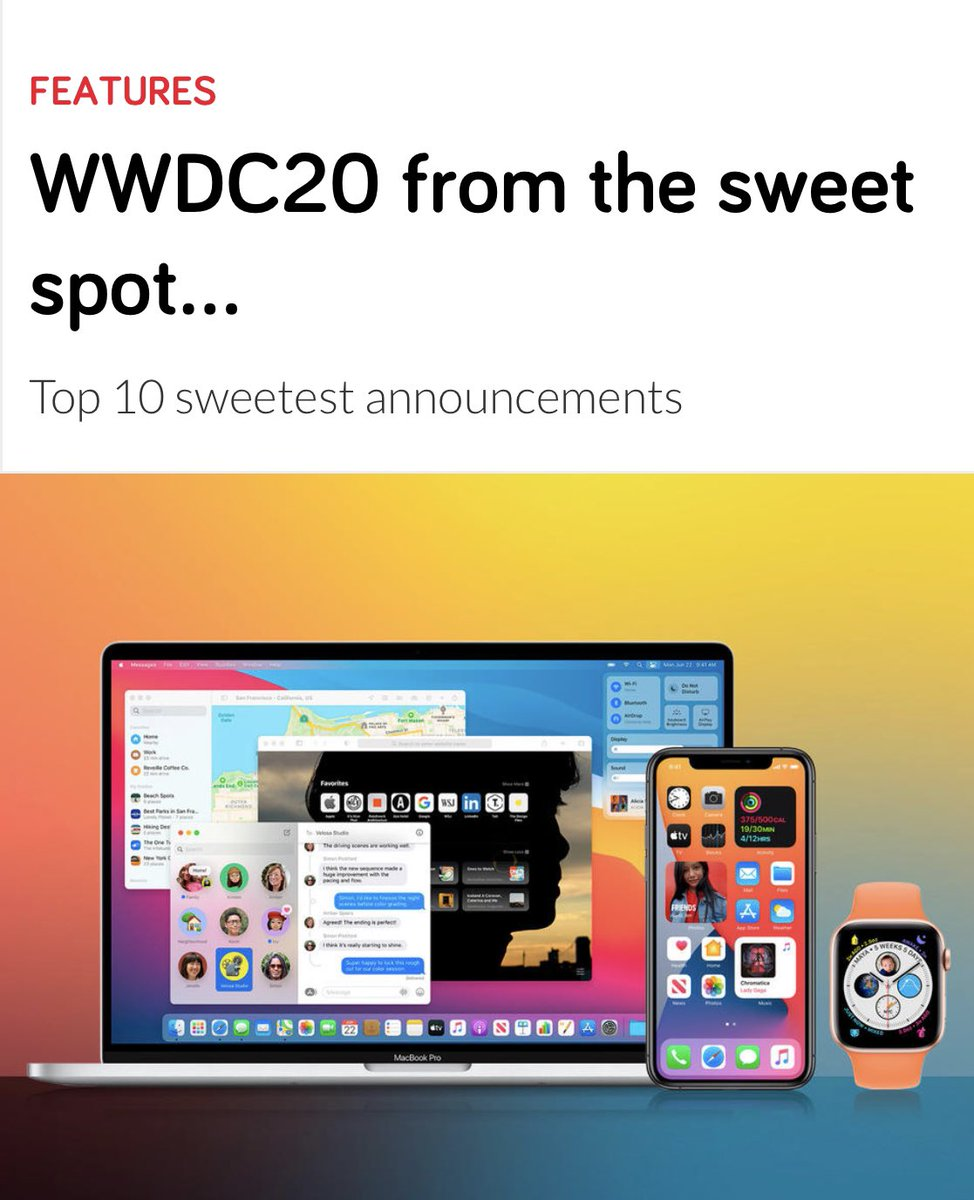 Want to read about the best of @Apple #WWDC2020 in 5 mins? Head to this link... https://t.co/by5jfICR4c https://t.co/pg8JfGoW9A