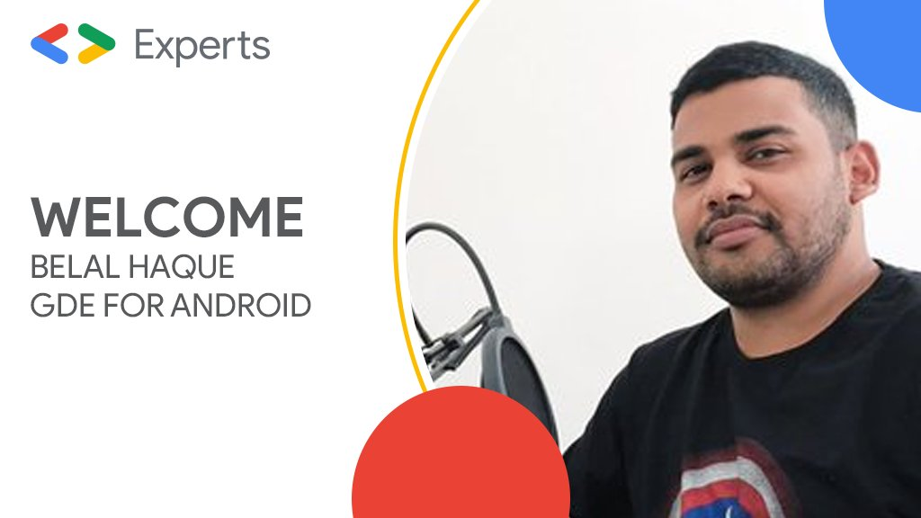 Congratulations @probelalkhan, our newest @GoogleDevExpert for Android   He is passionate about #Android and shares his knowledge through his website and YT channel.   Belal has also trained students through various training camps, and is now a Senior #AndroidDeveloper <br>http://pic.twitter.com/h6GbYm79Jv