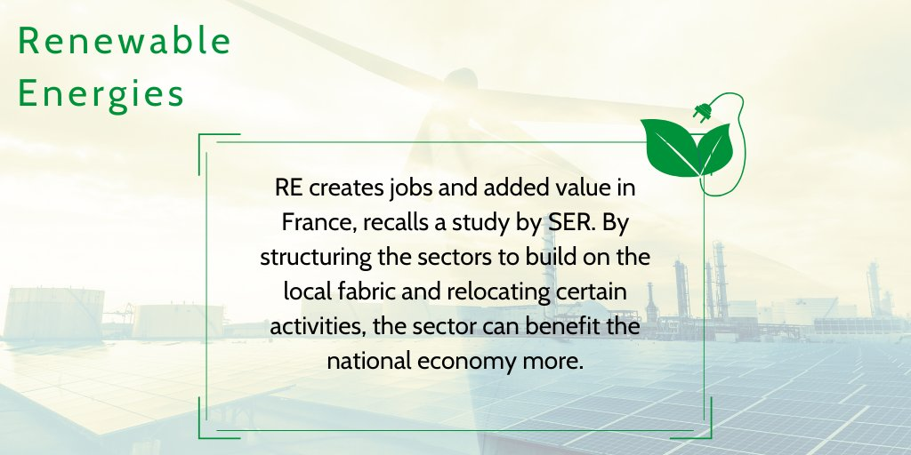 [Did you know ?] 🌍 In 2028, if the RES development objectives set in the EPP are achieved, this sector will represent 264,000 direct and indirect jobs in France and 10% of the added value created in 2018 by the industrial sector.  https://t.co/pZMcfhZrcj https://t.co/N2oJr1SR5o