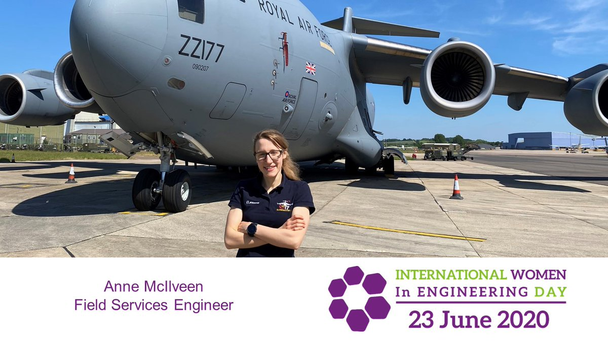 Anne McIlveen started as an engineering intern at @RAFBrizeNorton. Now she provides 24 hour engineering support for #C17 customers. #INWED20  Find out what Anne's career highlight is: https://t.co/HoZgHP7ynn https://t.co/nxTwp2pQau