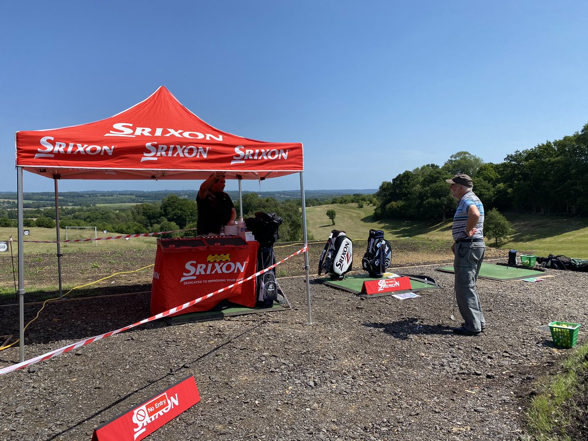 @SrixonEurope @CuckfieldGolf - we are off and running at Cuckfield Golf centre demo event, 1st one after lockdown, sun is out ☀️ and full day of fittings!