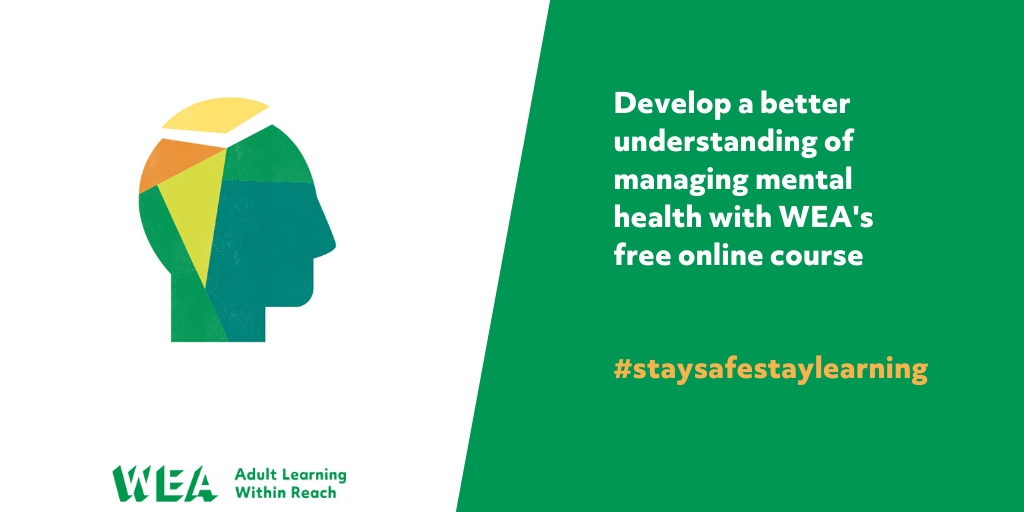 Develop a better understanding of mental health with WEAs free online course. Find out about the effects of stress on health and how to prevent or reduce it with WEAs free online course. Sign up here: bit.ly/2NzF821 #charitytuesday