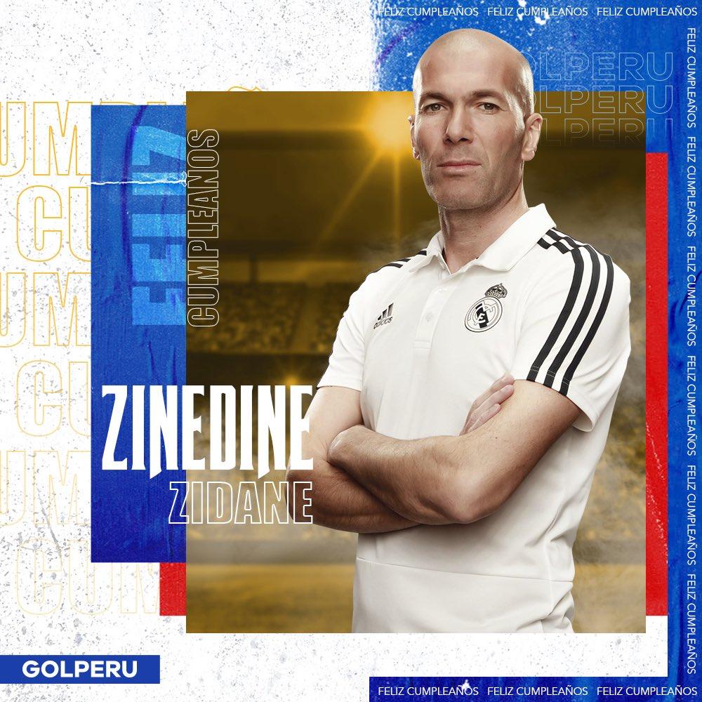 ¡FELIZ DÍA ZIZOU! Hoy 23 de junio Zinedine Zidane 🎩 cumple 48 años. El actual técnico 🧠 del Real Madrid 🇪🇸 es uno de los pocos que ha conseguido ganar la Champions League 🏆como jugador y entrenador. Además, con su selección ⚽️ levantó la Copa del Mundo 1998 🇫🇷. #QuédateEnCasa https://t.co/Weg0R3P6ek