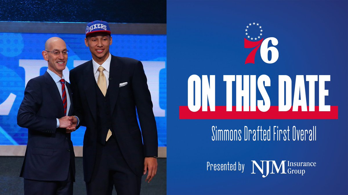 On this date in 2016, Ben Simmons became a 76er.  #PhilaUnite   📰 https://t.co/ORCbCGL79p | @NJMIns https://t.co/xuE82vT7Yz