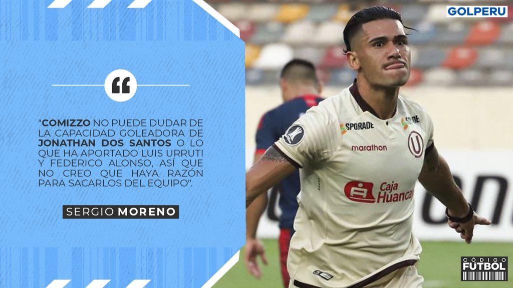 ¿SE QUEDAN? @SergioMoreno11 aseguró en #CODIGOFUTBOL ⚽️ que el nuevo DT de @Universitario, Ángel Comizzo, no debería dejar fuera del plantel a ninguno de los tres futbolistas uruguayos. #QuédateEnCasa https://t.co/bSZIzEkxOU
