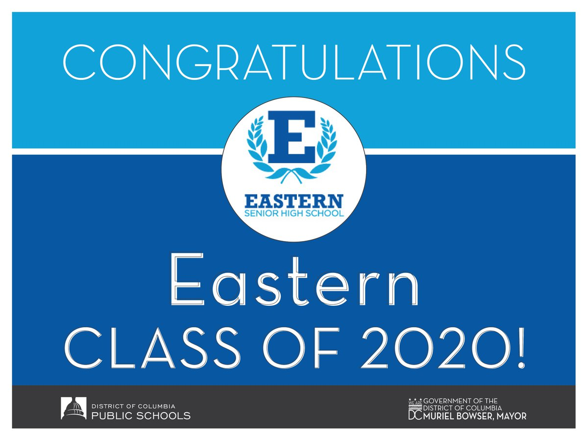 Lets congratulate today's #DCPS2020 graduates at: 🎓 @EasternHS 🎓 @BallouDC For information on how to stream graduation ceremonies, visit dcps.dc.gov/page/dcps-grad…