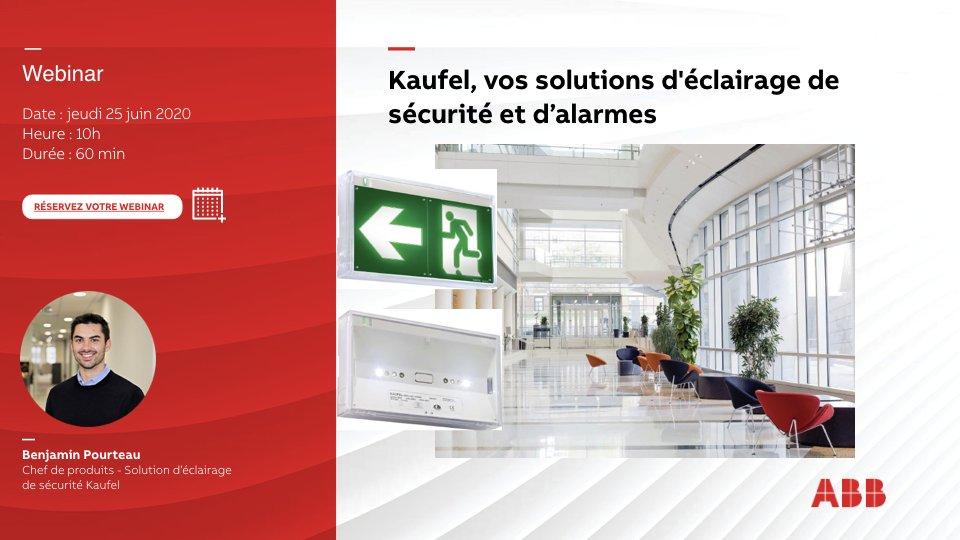 [WEBINAR #ABB]  1h pour tout comprendre de la gamme d'éclairage de sécurité et d'alarmes #Kaufel ! Rendez-vous Jeudi 25 juin à 10h ! Inscrivez-vous maintenant 👉 https://t.co/9XHmoNDb9P https://t.co/2fjy7DqYVf