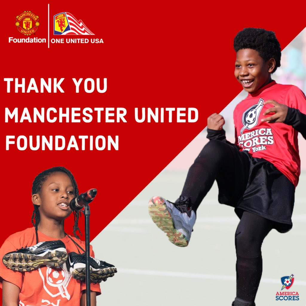We are proud to be associated with one of the greatest soccer clubs on the planet!   Thank you @MU_Foundation and @ManUtdUSA for supporting the poet-athletes of America SCORES! https://t.co/QI61Bs0SHO