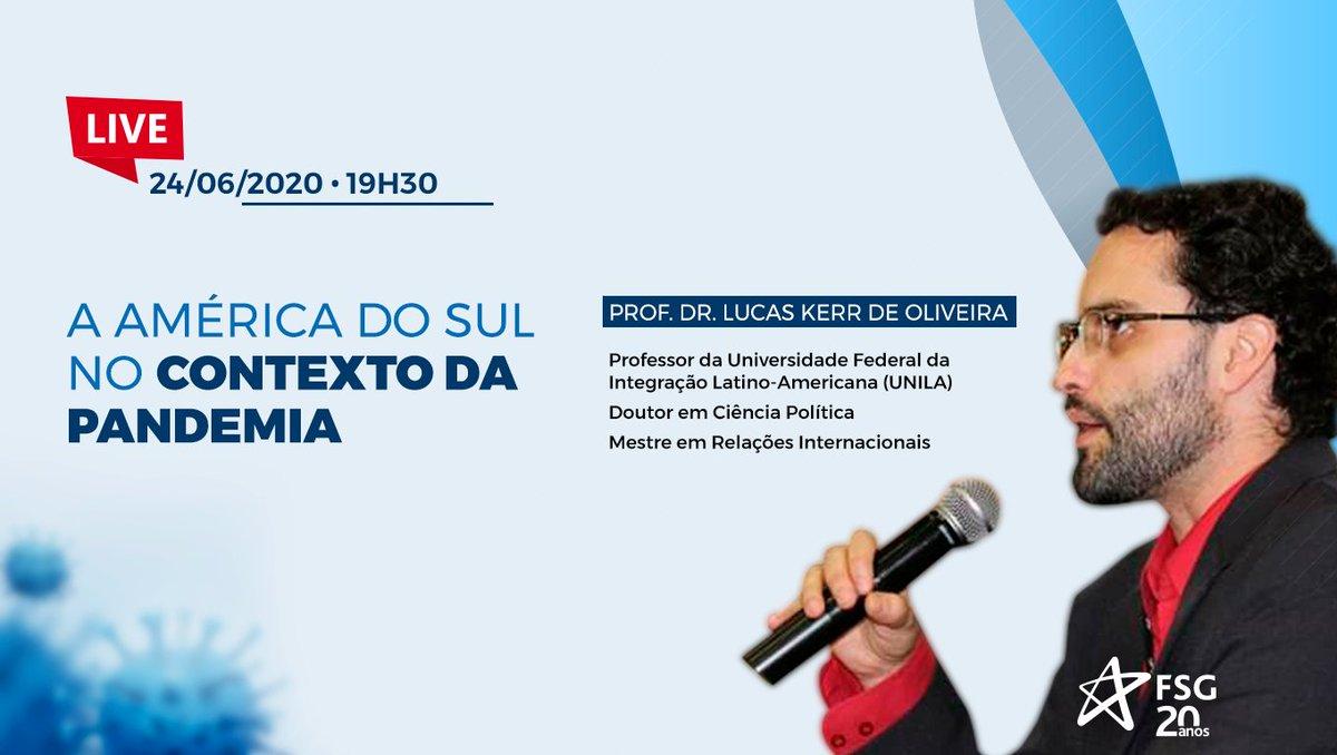 Participe do bate-papo sobre as mudanças geopolíticas sistêmicas causadas pela pandemia da Covid-19, com o Prof. Dr. Lucas Kerr de Oliveira, amanhã, dia 24/06, às 19:30. 😉 Acesse e saiba mais: https://t.co/4BXCsh3Xgq https://t.co/JW1eMDqZJA