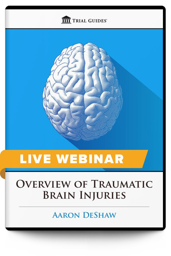 New Webinar!  Overview of Traumatic Brain Injuries - with Trial Guides Founder and noted brain Injury Lawyer, Aaron DeShaw  June 26, 2020 ♦ 12:30 PM ET ♦ 9:30 AM PT  Register and learn more here: https://t.co/U6yF2GcV2R https://t.co/iEGi6LmY1x