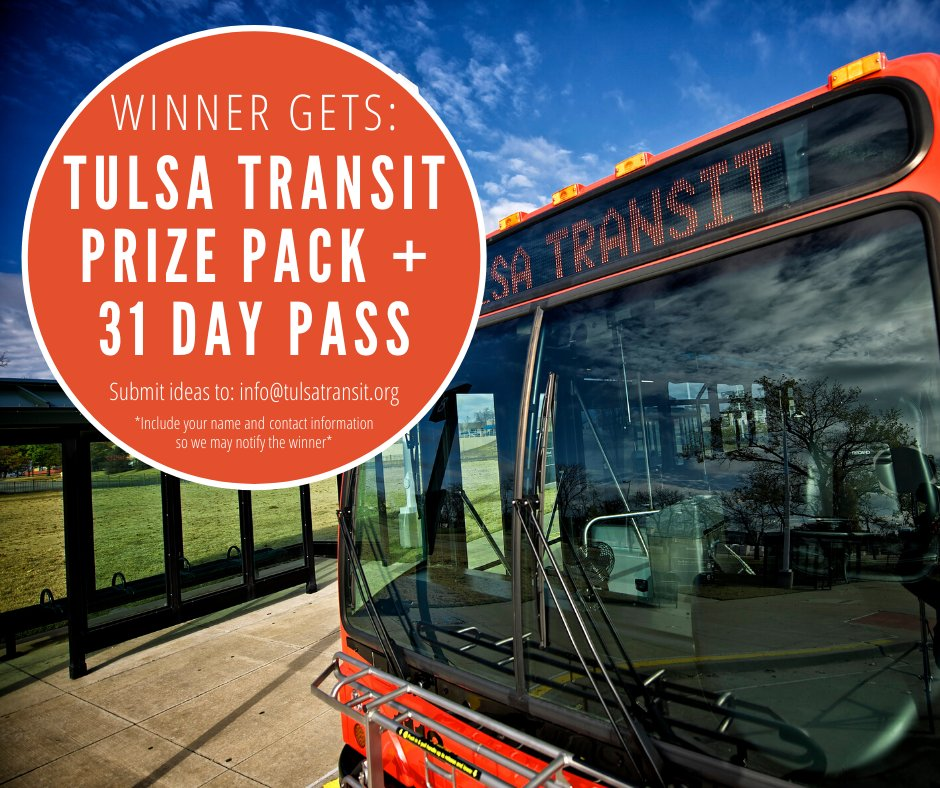 Tulsa Transit On Twitter Reminder All Name Suggestions For The New Turley Shuttle Are Due By Tomorrow If Your Idea Is Chosen You Will Win A Tulsa Transit Prize Pack And Free