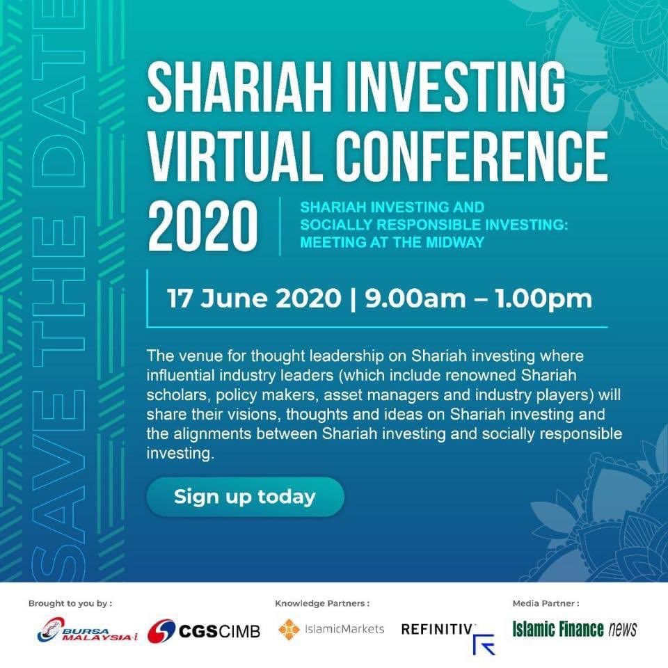 The most awaited video recordings from our Shariah Investing Virtual Conference 2020 are finally here!  Relive the #SIVC2020 experience again! Check out Bursa Malaysia-i Facebook page https://t.co/Fa0zNXFthD  Hope you enjoy #SIVC2020 as much as we do 💯  #InvestBMi #InvestShariah https://t.co/pldzjrtRUE