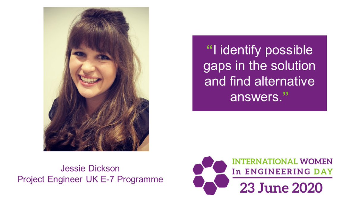 Jessie Dickson's project engineering skills have taken her from Australia to the UK. She's currently developing her career on our E-7 programme. #INWED20  Find out more about Jessie, her colleagues past and present, and how they #ShapeTheWorld: https://t.co/HoZgHP7ynn https://t.co/sv9qytdWqd