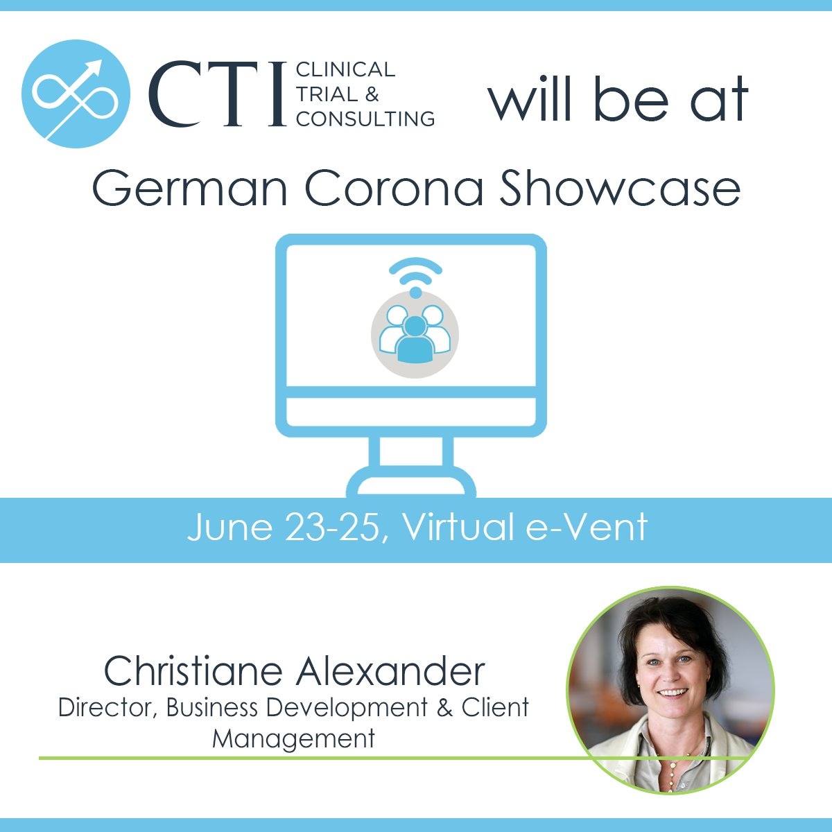 CTI will be a part of the virtual German Corona Showcase meeting this week! If you would like to set up a time to talk with our team about the #COVID19 pandemic and the work we are doing, send us a dm. @BIODeutschland https://t.co/mxjzvCDw8d