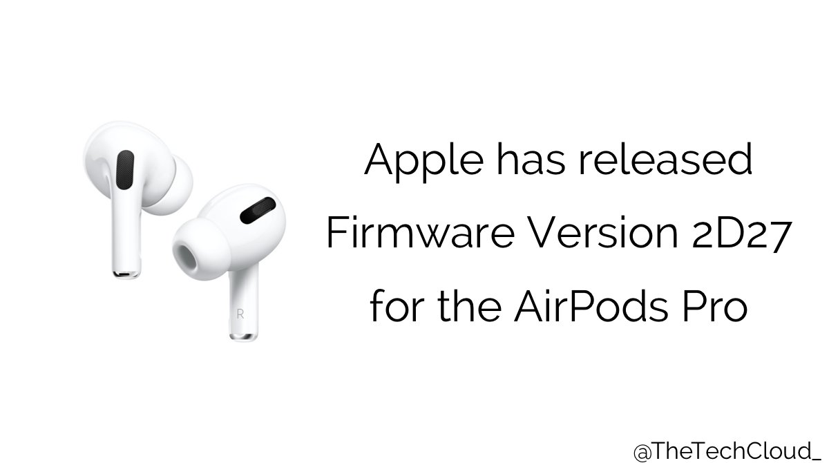 The Tech Cloud On Twitter News If You Own The Airpods Pro You