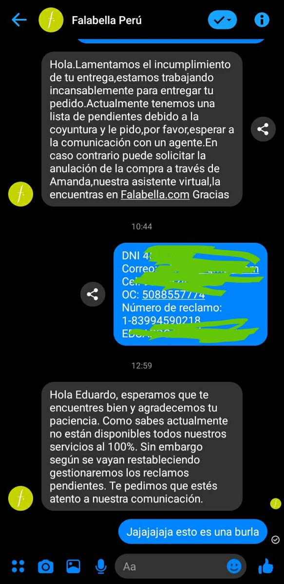 @miguelopse @Falabella_pe Mira sus respuestas por facebook, en @Falabella_pe son un chiste https://t.co/PNH3WX5NbE