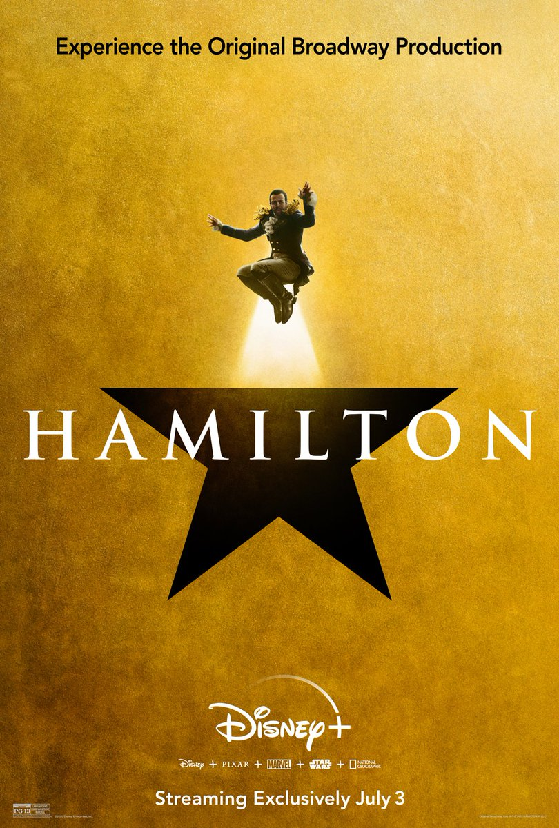 The cast of #Hamilfilm takes the spotlight in these brand-new posters. Hamilton is streaming exclusively on #DisneyPlus in just 10 days. (1/3)