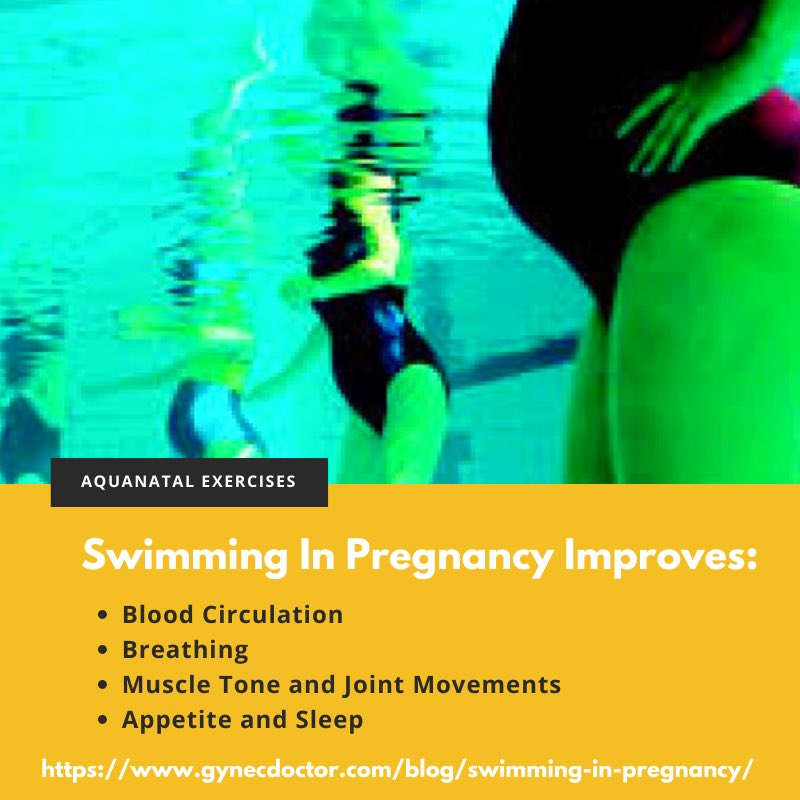 Swimming helps in pregnancy. Read how it can help during pregnancy, who can do it and who should avoid?  https://www.gynecdoctor.com/blog/swimming-in-pregnancy/ …  #swimminginpregnancy #aquanatal #aquanatalyoga #pregnancyworkouts #pregnancyexercise #pregnancycare #gynecologistinmumbai #gynecologistinindiapic.twitter.com/R3ATQ3627k