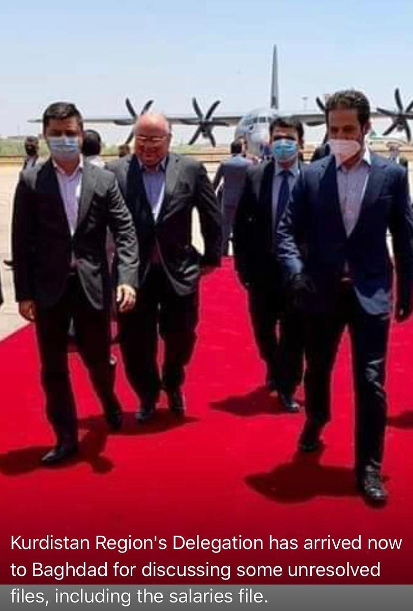 KRG delegation headed by Deputy Prime Minister @qubadjt arrived in Baghdad for 3rd round of discussion on resolving outstanding issues between #Baghdad and #Arbil, top priority must be the payment salaries pic.twitter.com/ls4svc4ecS
