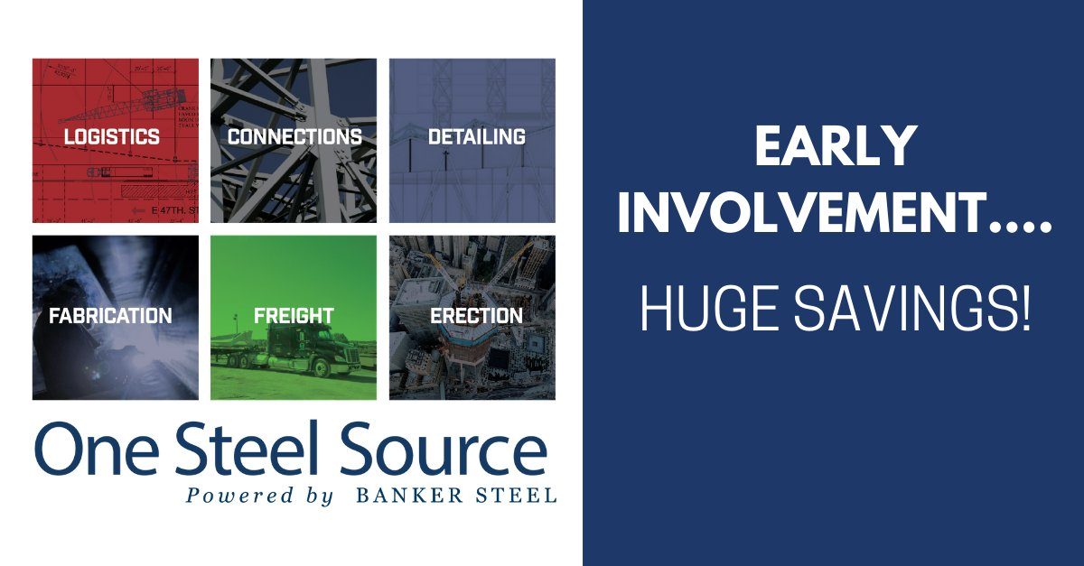 Early involvement… Huge Savings! Getting One Steel Source involved in your project early allows our fully integrated internal team to ensure that your project begins the right way with detailed and accurate estimating. See how it all comes together: buff.ly/2WCxA2A