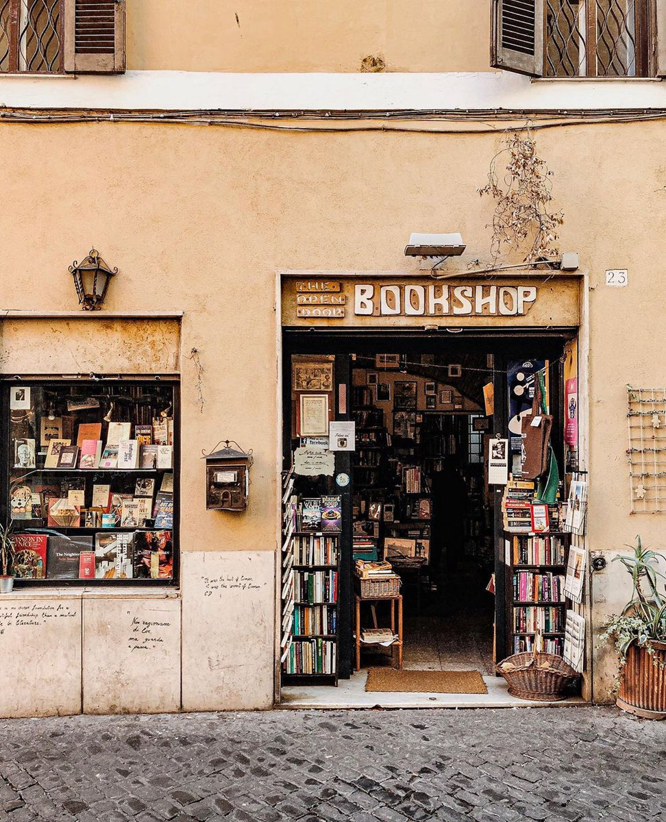 Things We've Missed: Getting lost in a local bookshop. We're thrilled to see the places we love—like Open Door Bookshop in Rome—starting to open their doors again. Photo via https://t.co/3Qtm8xJ3AW https://t.co/2zdPuwGSly