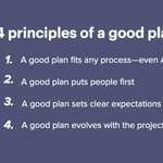 Image for the Tweet beginning: Project plans don't have to