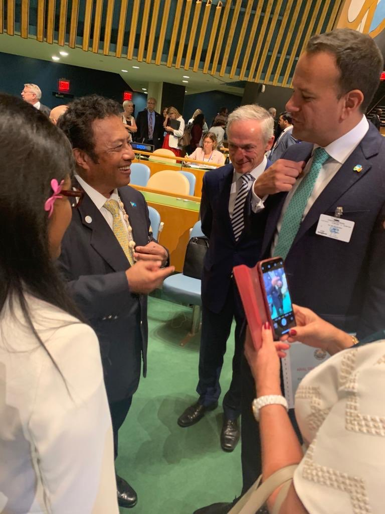 From one island state🇵🇼 to another 🇮🇪, congratulations to Ireland @LeoVaradkar @PresidentIRL @dfatirl on your #UNSC election! Palau looks forward to your contributions to strengthening multilateralism, small state voices and climate security in the Council's work. https://t.co/9GVeWzIGxt