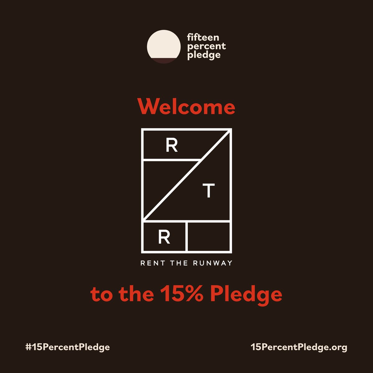 Today we are so excited to announce that @RenttheRunway has taken the #15PercentPledge! https://t.co/xpGRpqXvzT