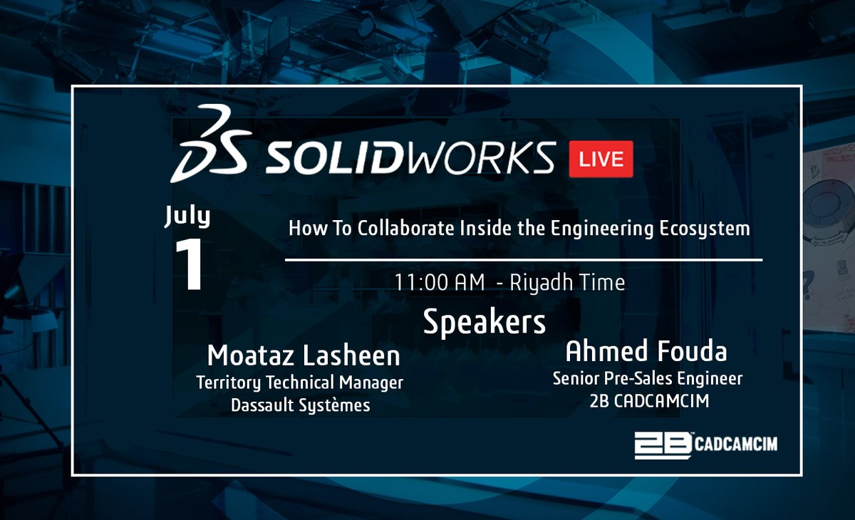 How To Collaborate Inside the Engineering Ecosystem   Link: https://t.co/AqKsyqXnJs #CADCAMCIM #SOLIDWORKS #MANAGE #ENGINEERING #joinus #webinar https://t.co/V9CdFoxQ6Y