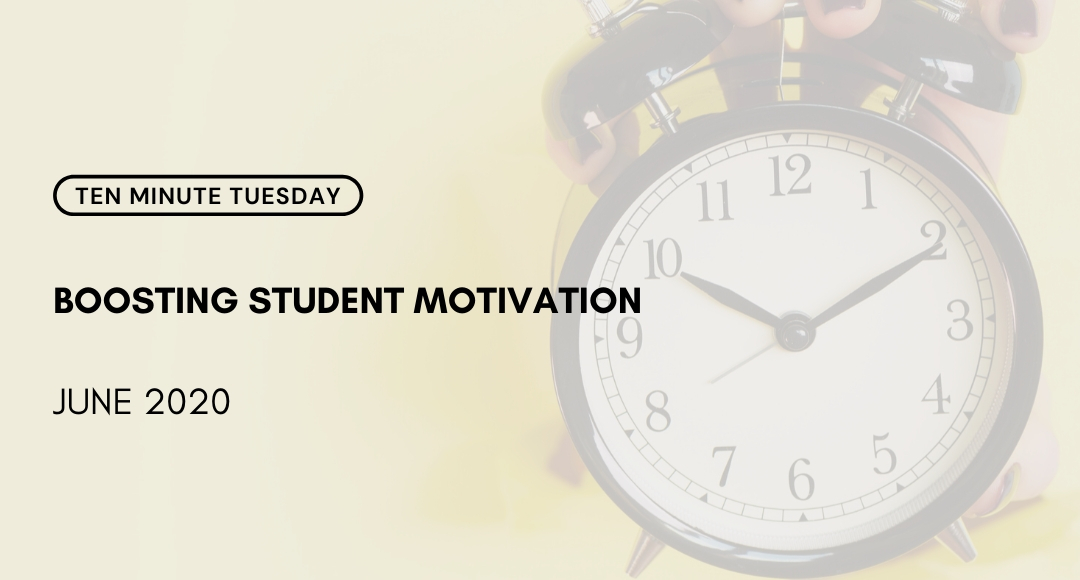 ➡️  https://t.co/jmuqSF7AEH ⬅️ Join Author Mike Anderson (@balancedteacher) in this week's #10MinuteTuesday. He shares his definition of motivation and some best practices from schools he has worked with. #10MT  #StudentMotivation  #EdChat https://t.co/gacjQZO7OH