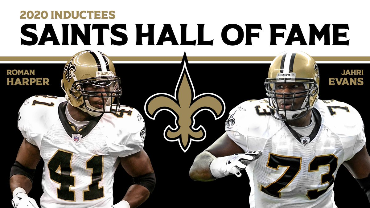 Congratulations to our 2020 #Saints Hall of Fame inductees: @Harp41 and @J_7TRE_E! ⚜️