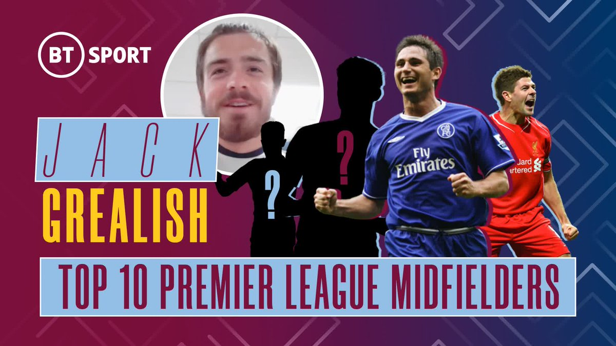 1️⃣ 🇵🇹 2️⃣ 🏴 3️⃣ 🇧🇪 4️⃣ 🏴 5️⃣ 🏴 6️⃣ 🇨🇮 7️⃣ 🇪🇸 8️⃣ 🏴 9️⃣ 🇫🇷 🔟 🇪🇸  We asked @JackGrealish to name his top 10 Premier League midfielders of all time 👀 https://t.co/cvO9XcuqtU