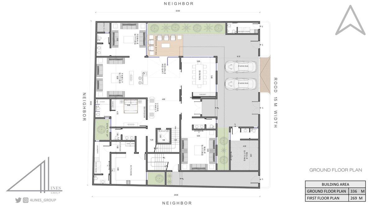 من أعمالنا .. تصميم فيلا خاصة ( المرحلة الأولى )  الموقع : الرياض - حي الياسمين  المساحة : ٦٠٠ متر مربع (٢٥م* ٢٤م ) . . #تصميم_داخلي #تصميم_خارجي  #ديكورات  #اشراف #تنفيذ #تصميمي #تصاميم_هندسية  #ريفت #اوتوكاد #فيلا #كلاسيكي  #architect  #revit #design #Rendering #vray  #3dmax https://t.co/xFVi9su0Jd