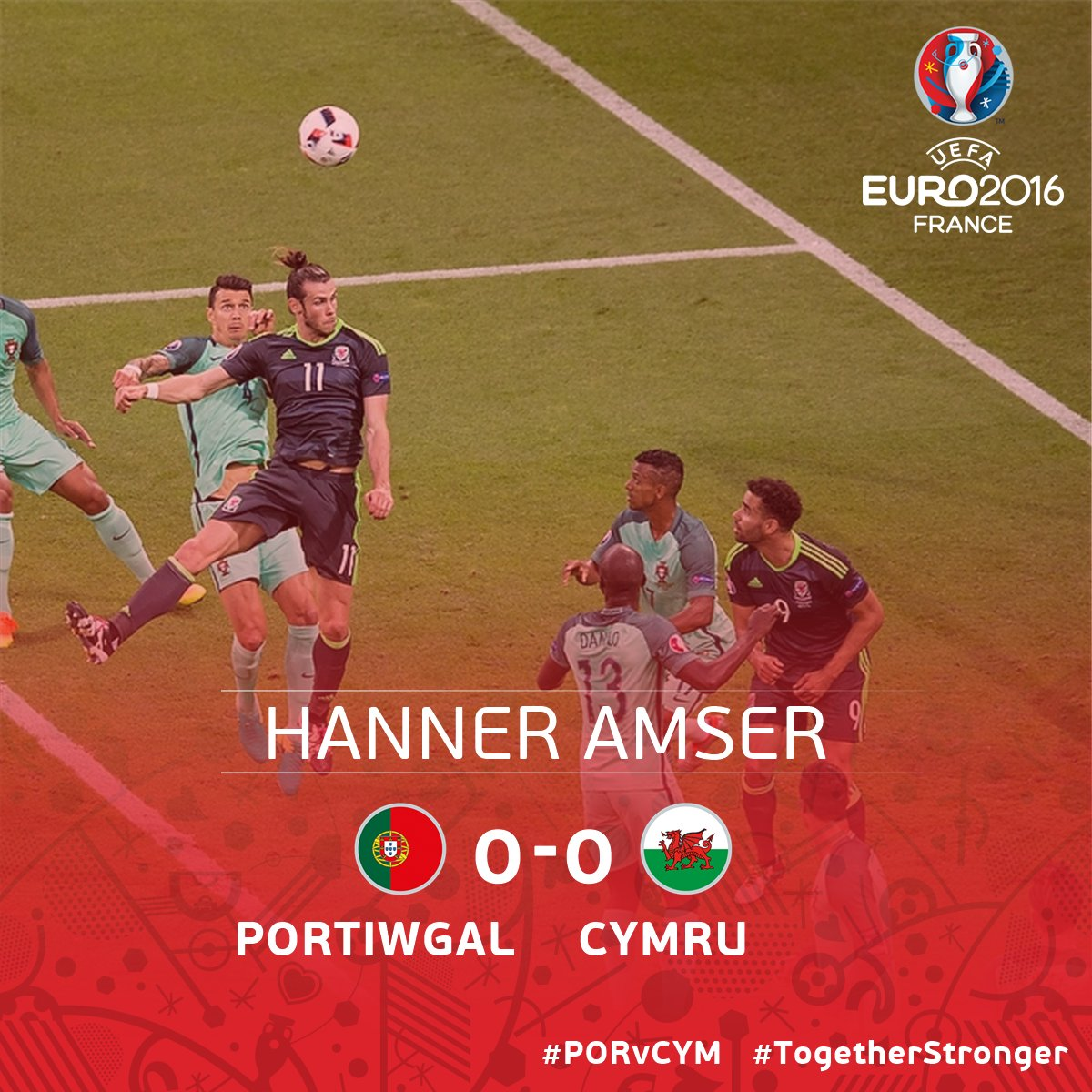 The dream was still alive at this point... watch the second half on BBC Two Wales right now.   #PORWAL16 | #TogetherStronger https://t.co/Kd3guXaOwz