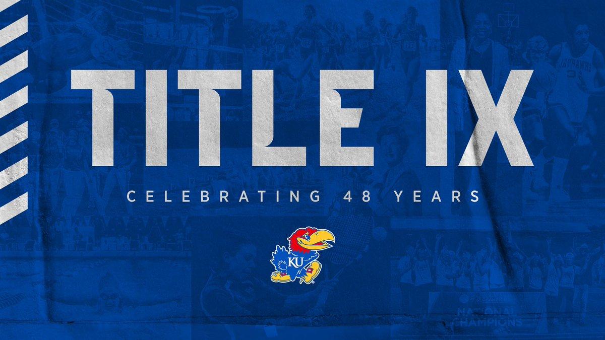 Celebrating 48 years of #TitleIX!   #RockChalk https://t.co/dJrgctWMmW