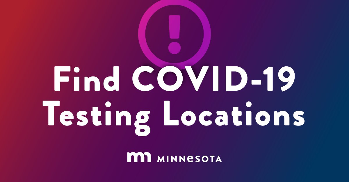 If you attended demonstrations, marches, clean-ups, etc., get tested for #COVID19. There are free community testing events today and tomorrow in Minneapolis and St. Paul from 11-6. Schedule an appointment here to avoid long lines: https://t.co/JHzyOp8ts0 #StaySafeMN https://t.co/rtYDZfBdTL