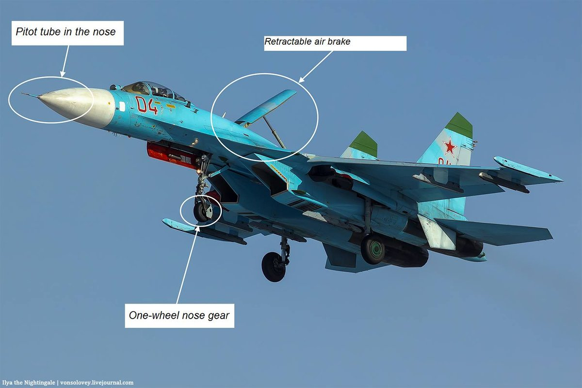 And here are the features that are inherent to all single-seater Su-27s without exception: