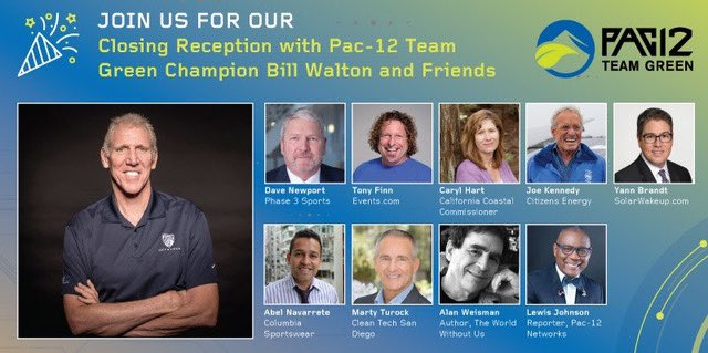 please join us tomorrow/Weds, June 24 #Pac12TeamGreen virtual series, including a closing reception with me & my friends Sessions begin at 11 a.m. PT. we take the screen at 4pm PST, 🎟️ Free to register 📺 Register ➡️ Pac12.me/GreenWebinar Here we go! Live green or die!