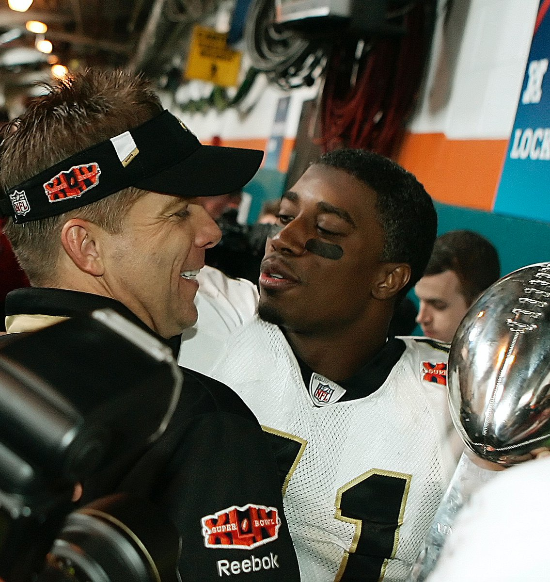These two gentlemen are part of a draft class that completely changed the culture and began the pillars of a Super Bowl championship run, - @SeanPayton on the newest #Saints Hall of Famers: @Harp41 and @J_7TRE_E