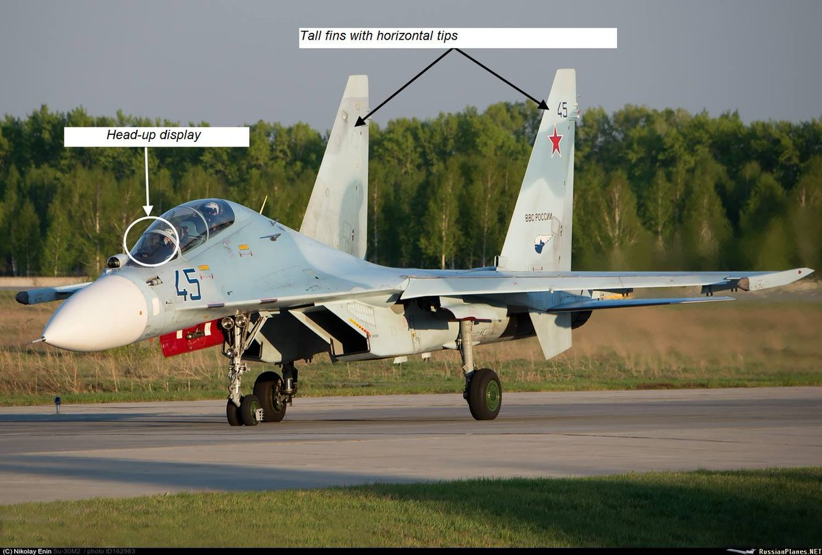 The majority of Su-30 variants in Russia are Su-30M2 (manufactured in Komsomolsk-on-Amur) and Su-30SM (manufactured in Irkutsk). They have significant difference in tasks and aerodynamics.