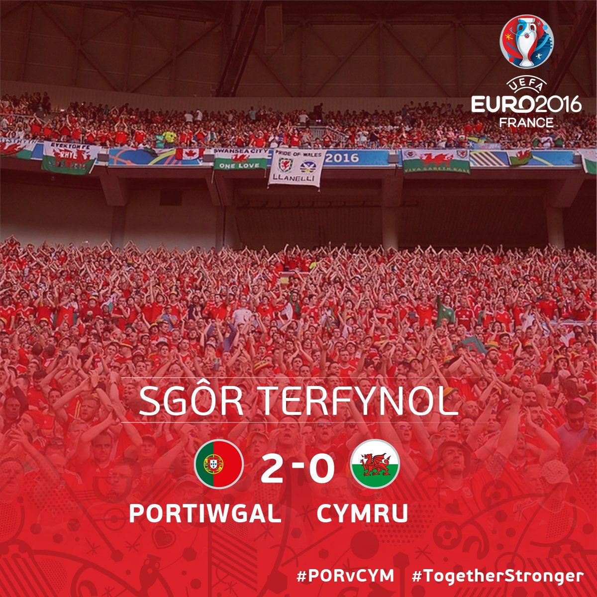 No place in the #EURO2016 Final.   Our small country though 🏴❤️  #PORWAL16 | #TogetherStronger https://t.co/fo6y1sRWK2